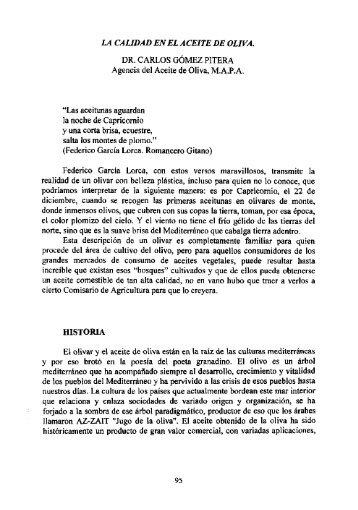 la calidad en el aceite de oliva. - Instituto de Academias de Andalucía
