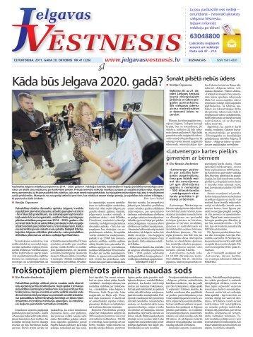 2011.gada 20.oktobris Nr.41(226) - Jelgavas Vēstnesis