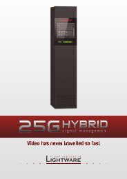 25G Hybrid Signal Management - VIDELCO