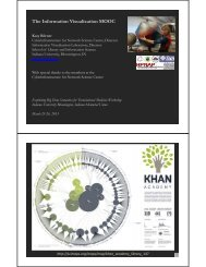 The Information Visualization MOOC - Cyberinfrastructure for ...