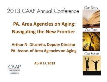 PA. Area Agencies on Aging: Navigating the New Frontier