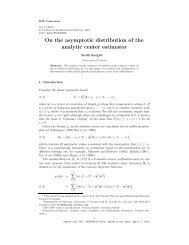 On the asymptotic distribution of the analytic center estimator