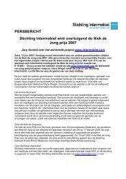 persbericht intermobiel wint niek de jong prijs 2007 - Stichting ...