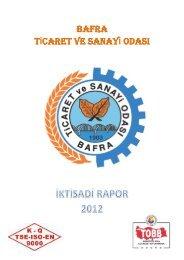 İktisadi Rapor 2012 - Bafra Ticaret ve Sanayi Odası