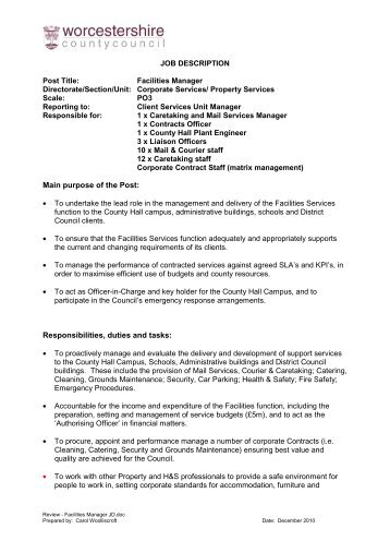 Job Description Post Title: Nursery Manager Reports to: Director ...