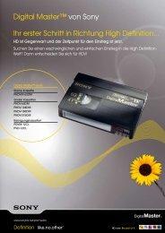 HDV Digital Master Tape, Standard - Videocation
