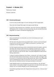 Protokoll – 4. Oktober 2011