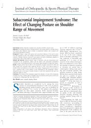 lewis et al (2005) subacromial impingement syndrome - the effect of changing posture on shoulder range of movement