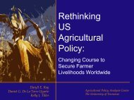 Rethinking US Agricultural Policy: - Agricultural Policy Analysis Center