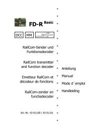 Anleitung Funktionsdecoder FD-R Basic - MDVR