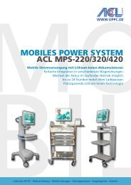 MobileS Power SySteM ACl MPS-220/320/420 - Home - SEC Medical