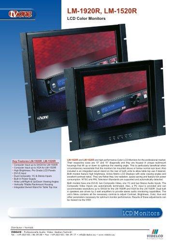 LCD Monitors LM-1920R, LM-1520R - VIDELCO