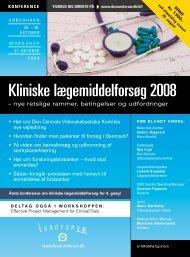 Kliniske lægemiddelforsøg 2008 - IBC Euroforum