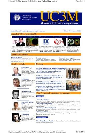 Agenda UC3M - Universidad Carlos III de Madrid