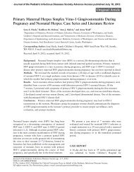 Primary Maternal Herpes Simplex Virus-1 Gingivostomatitis During ...