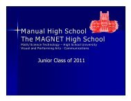 Manual High School The MAGNET High School - duPont Manual ...