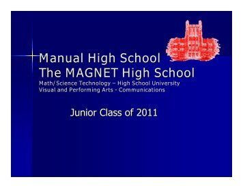 Manual High School The MAGNET High School - duPont Manual ...