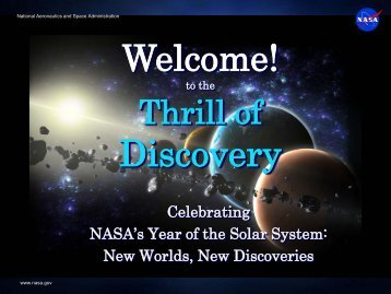 Discovery & New Frontiers Programs - Discovery Program - NASA
