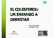 Colesterol - Dra. Adrian - Hospital de l'Esperit Sant
