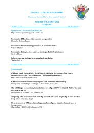 SIOP 2012 – ADVANCE PROGRAMME Saturday 6th October 2012 ...