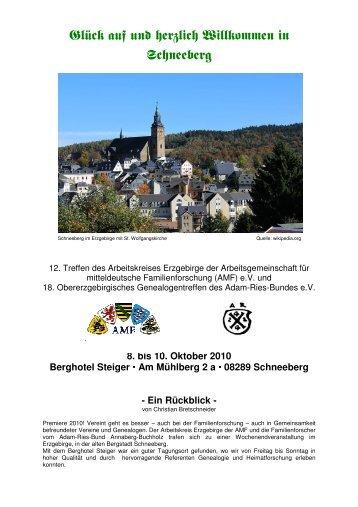 08289 Schneeberg - des AMF Arbeitskreises Erzgebirge