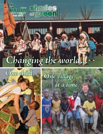 Changing the world... - Stephen T. Badin High School
