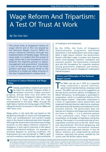 Wage Reform & Tripartism : A Test of Trust At Work - Civil Service ...