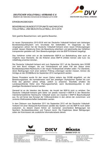 anschreiben bewerbung bsp n deutscher volleyball verband - Xing Anschreiben