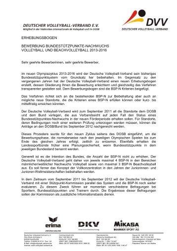 Anschreiben Bewerbung Bsp N Deutscher Volleyball Verband
