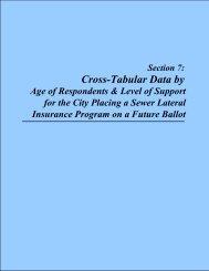 Cross-Tabular Data by - The City of Wentzville | Missouri