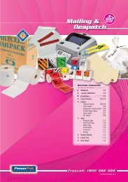 mailing & despatch section - PowerPak Packaging Supplies