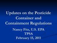 Nancy Fitz - The Pesticide Stewardship Alliance TPSA