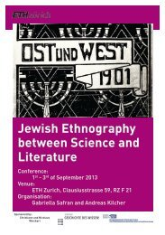 Jewish Ethnography between Science and Literature