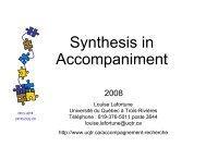 Synthesis in Accompaniment - Université du Québec
