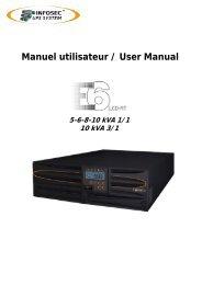 Manuel utilisateur / User Manual - Infosec