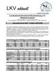 Jahresabschluss MLP - Prüfjahr 2007/2008 - Landeskontrollverband ...