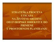 strateška procena strateška procena uticaja na životnu sredinu od ...