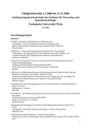 Tätigkeitsbericht 1 - Institut für Wasserbau und Ingenieurhydrologie ...