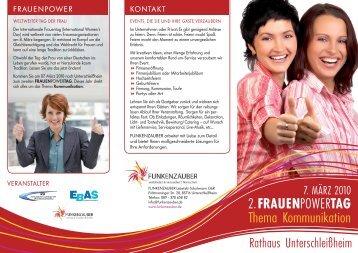2. FRAUENpowerTAG Thema Kommunikation - von Regina Lindinger