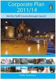 Corporate Plan 2011/14 - Merthyr Tydfil County Borough Council