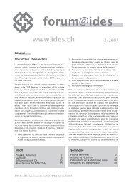 Forum Ides 3/2007 - Education à l'environnement en Suisse