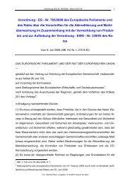Verordnung - EG - Nr. 765/2008 des Europäische Parlaments und ...