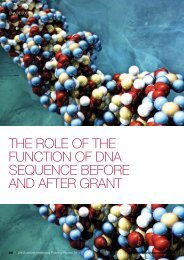 The role of the function of DNA sequence before and after grant