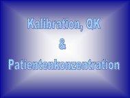Kalibration, Kontrollen, Patientenkonzentration - Medizinisches ...