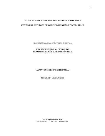 14 09 02 al 05 Programa XXV Encuentro Nacional de Fenomenología y Hermenéutica
