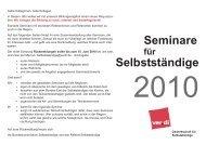Seminare Selbstständige - Netzwerk Weiterbildung