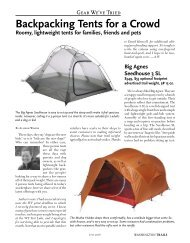 Backpacking Tents for a Crowd - Washington Trails Association