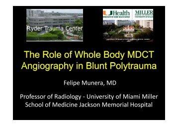 Felipe Munera, MD Professor of Radiology ... - AKUTNE.CZ
