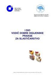 Vodič dobre higijenske prakse za slastičarstvo - Hrvatska ...