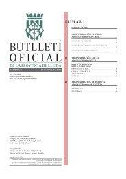BUTLLETÍ OFICIAL - Ajuntament de Lleida